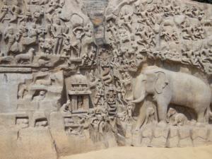 Stories, written into stone, in Mahabalipuram